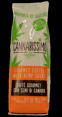 kawa z nasionami konopi